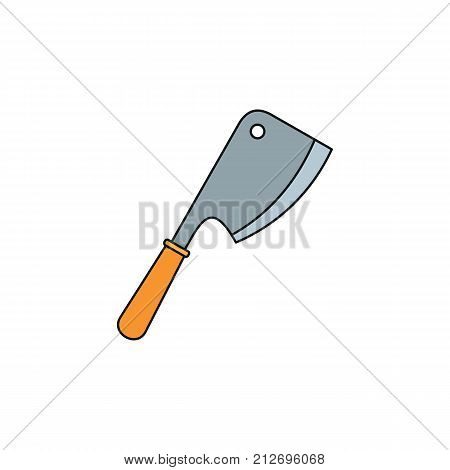 Axe for meat cartoon icon. Vector illustration of Axe for meat isolated on white background