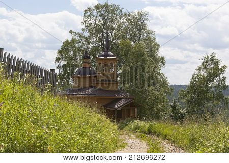 Chapel of Our Lady of the Assumption in a village Markovskaya, Verhovazhskogo district, Vologda region, Russia