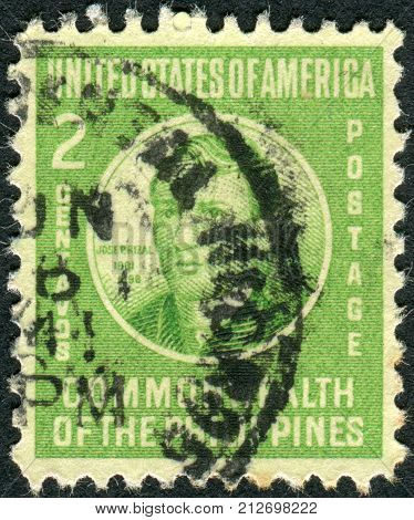 PHILIPPINES - CIRCA 1941: Postage stamp printed in the Philippines shows a portrait of a Filipino nationalist writer and revolutionary Jose Rizal circa 1941