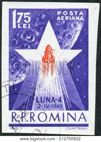 ROMANIA - CIRCA 1963: Postage stamp printed in Romania shows