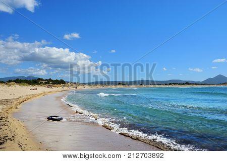 Voidokilia Beach In Greece