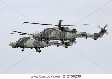 British Royal Navy Wildcat Helicopter