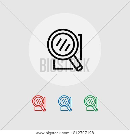A set of searchable web icons. Vector illustration. Banner.