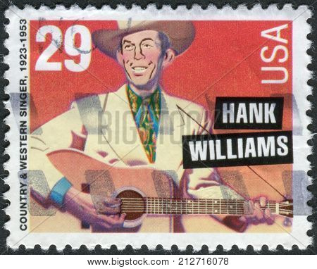 Usa - Circa 1993: Postage Stamp Printed In The Usa, Shows An American Singer-songwriter And Musician
