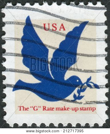 USA - CIRCA 1994: Postage stamp printed in the USA shows a dove of peace circa 1994