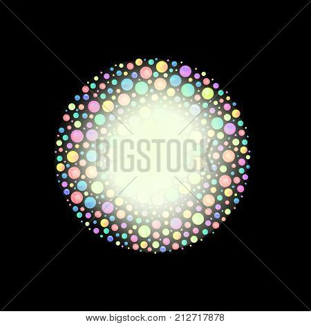 Colorful Watercolor Dots.  Dense Retro Watercolor Confetti