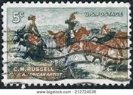 Usa - Circa 1964: Postage Stamp Printed In Usa, Shows A Picture Of
