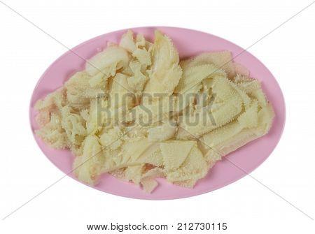 Raw Tripe On Plate