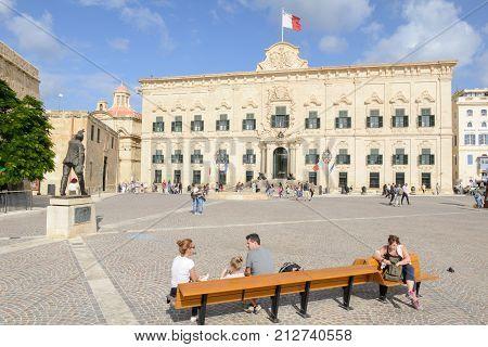 Auberge De Castille. The Prime Minister Office. Valletta, Malta.