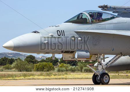 Military F-18 Hornet Fighter Jet Plane