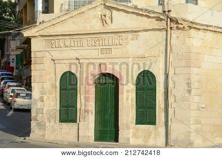 Sea Water Distilling Plant, Built 1881. Sliema, Malta.