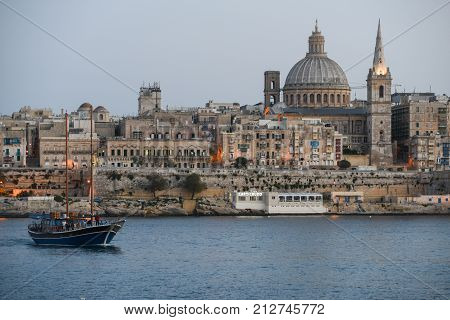 View Of Valletta, The Capital City Of Malta