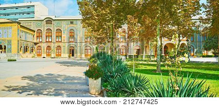 The Scenic Gardens Of Golestan Palace, Tehran