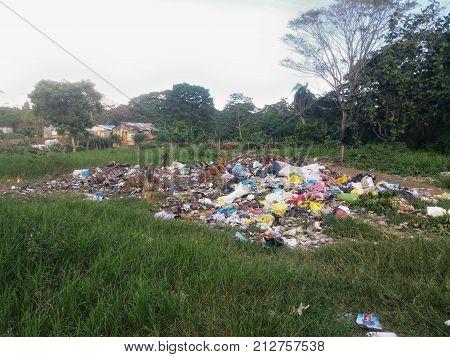 Informal dump in a suburb of Santo Domingo in Dominican Republic