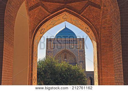 Bukhara: Kalon mosque through the old gate