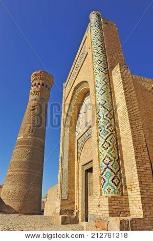 Bukhara: view of Kalyan minaret and gate