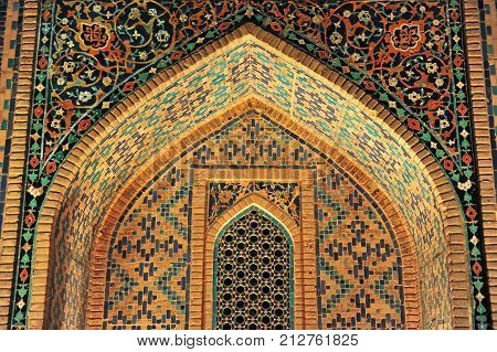 Samarkand: the entrance to Madrasah of Registan