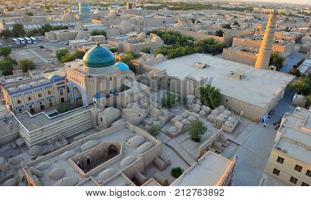 Khiva: view of the sunset view of old town