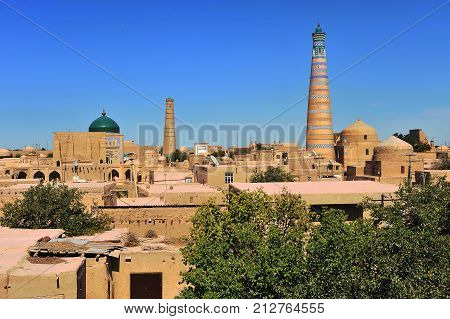 Khiva: minarets and domes of old town