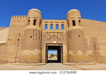 Khiva: the medieval gates of old town