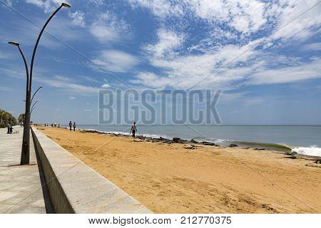 Pondicherry Beach Promenade outdoor India Tamil Nadu
