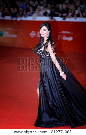 ROME ITALY - OCTOBER 28: Isabelle Adriani walk a red carpet for 'Stronger' during the 12th Rome Film Fest at Auditorium Parco Della Musica on October 28 2017 in Rome Italy.