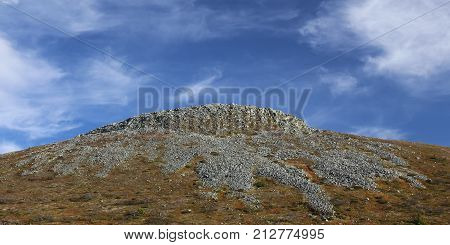 View On A Rocky Subpeak Of The Mountain Hovaerken In Sweden