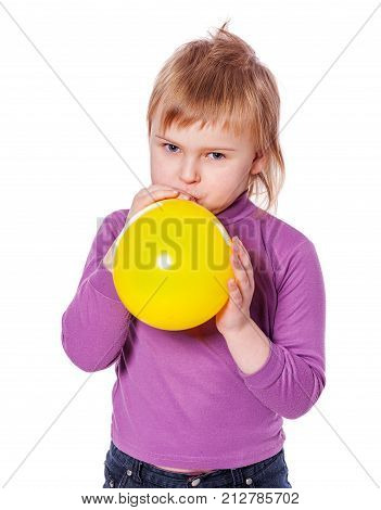 Girl Inflating Balloon