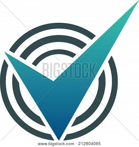Verified Qualification Logo Design Template Vector Isolated