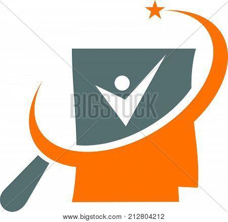Search Job Portfolio Logo Design Template Vector