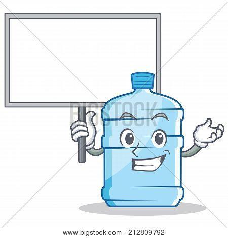 Bring board gallon character cartoon style vector illustration