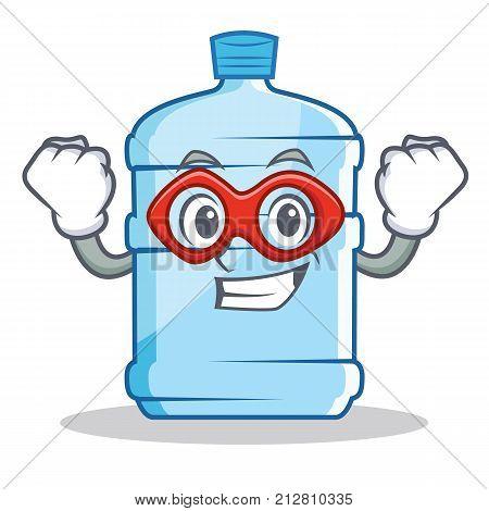 Super hero gallon character cartoon style vector illustration