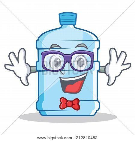 Geek gallon character cartoon style vector illustration