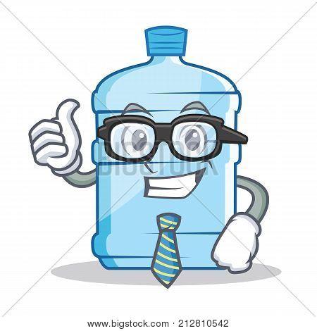 Businessman gallon character cartoon style vector illustration