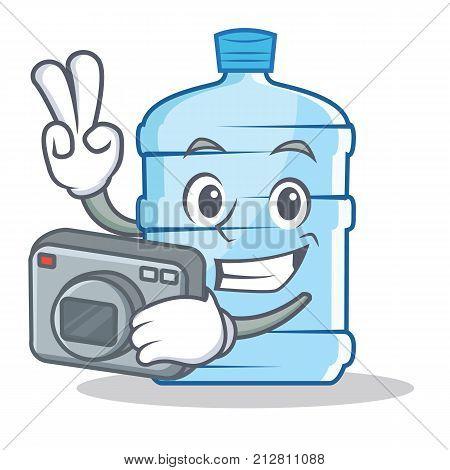 Photographer gallon character cartoon style vector illustration