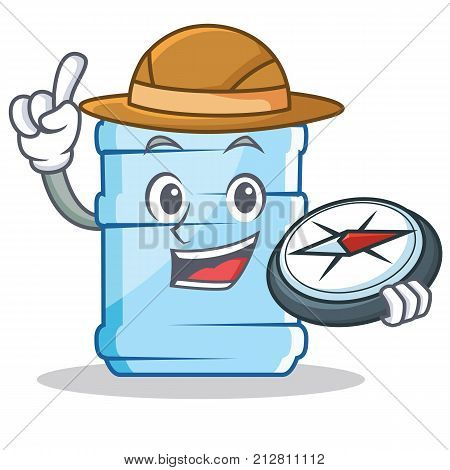 Explorer gallon character cartoon style vector illustration