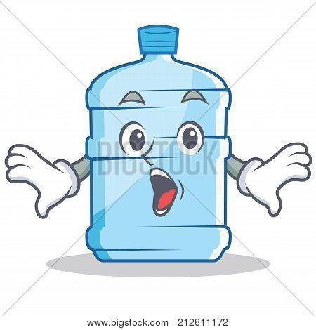 Surprised gallon character cartoon style vector illustration