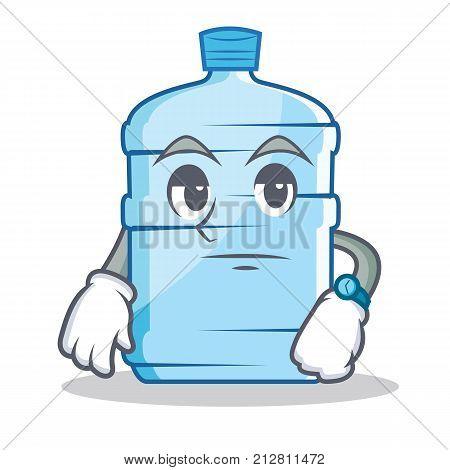 Waiting gallon character cartoon style vector illustration