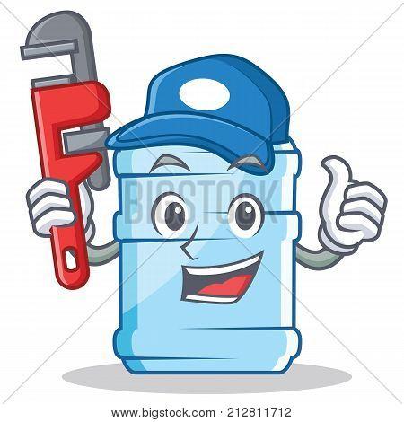 Plumber gallon character cartoon style vector illustration