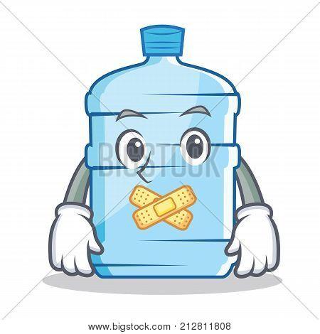 Silent gallon character cartoon style vector illustration