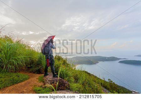 Lady On Pha Hin Dum Viewpoint