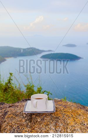 Coffee Cup On Pha Hin Dum Viewpoint
