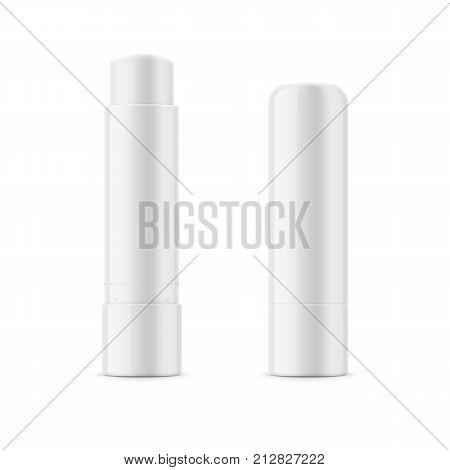 White Glossy Lip Balm Vector & Photo (Free Trial)   Bigstock