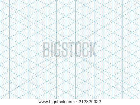 Isometric Graph Paper Background Vector  Photo  Bigstock