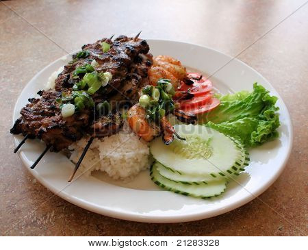 Vietnamese Grilled Beef, Chicken, and Shrimp