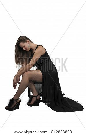 Beautiful Woman In A Formal Dress