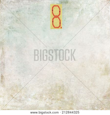 Numbered textured background image (Number 8)