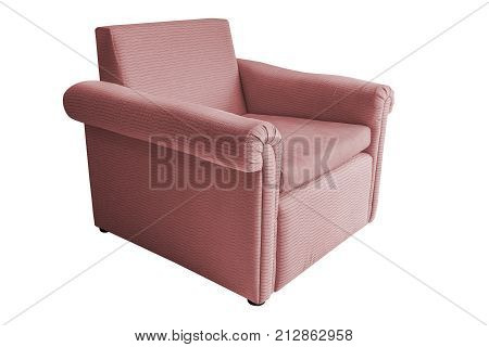 Luxury sofa isolated on white background with clipping path.