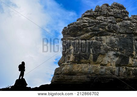 life struggle and obstacles & mountains and cliffs poster