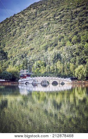 Suocui Bridge In Lijiang, China.